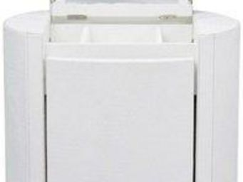 WHITE LABEL - coiffeuse evy blanc cassé - Console