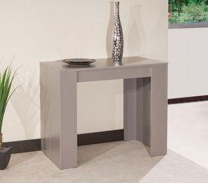 WHITE LABEL - console elasto taupe mat, extensible en table repa - Console