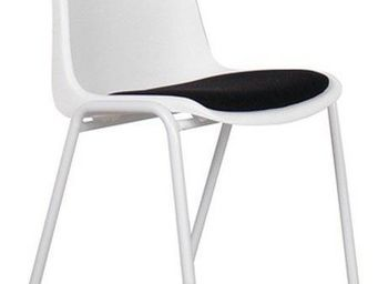 ZUIVER - chaise zuiver back to gym blanche et noire - Chaise