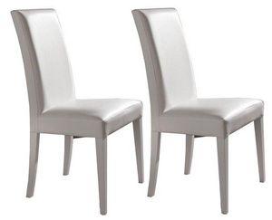 WHITE LABEL - lot de 2 chaises design italienne vertigo lux en s - Chaise