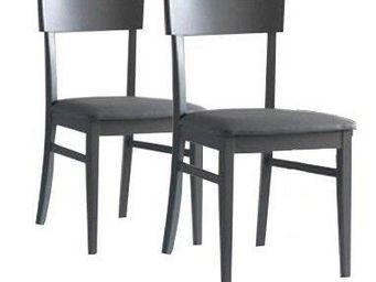 WHITE LABEL - lot de 2 chaises new age grises - Chaise