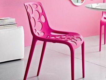 Calligaris - chaise empilable hero de calligaris fuchsia - Chaise De Jardin