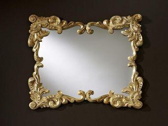 WHITE LABEL - loliane miroir mural design couleur or - Miroir