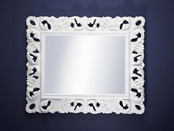 WHITE LABEL - manue miroir mural design en verre - Miroir