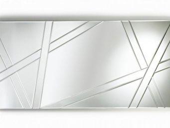 WHITE LABEL - sight miroir rectangulaire en verre biseauté - Miroir