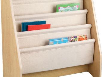 KidKraft - bibliothèque avec rangements en bois et coton - Bibliothèque Enfant