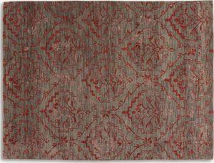 WHITE LABEL - basanti tapis laine rouge taupe 170x240 cm - Tapis Contemporain