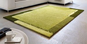 WHITE LABEL - samoa design tapis patchwork vert - 200x290 cm - Tapis Contemporain