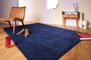 WHITE LABEL - contzencolours tapis bleu indigo 170x240 cm - Tapis Contemporain