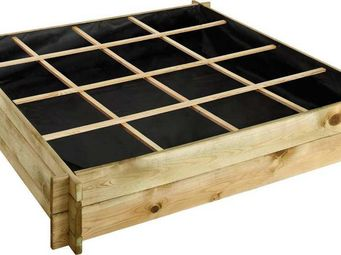 JARDIPOLYS - carré potager à poser 134x134x24cm - Carré Potager