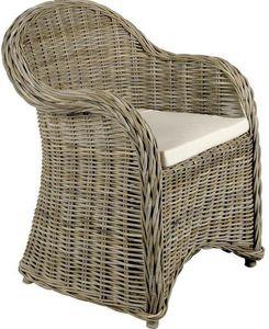 Aubry-Gaspard - fauteuil gris arthur - Fauteuil De Jardin