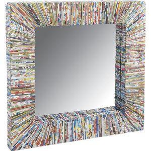Aubry-Gaspard - petit miroir en papier recyclé - Miroir