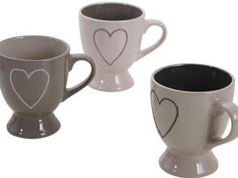 Aubry-Gaspard - tasse � caf� en gr�s (lot de 3) - Mug