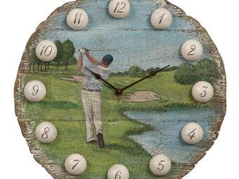 Interior's - horloge ronde golf - Horloge Murale