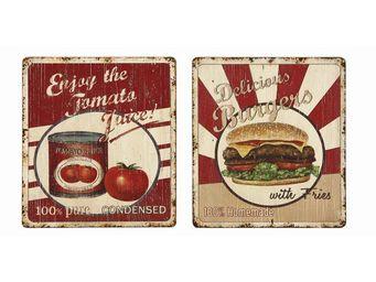 Interior's - enseigne publicit� burgers - D�coration Murale