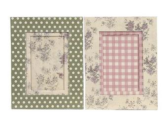 Interior's - cadre photo pois et roses - Cadre Photo