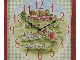 Interior's - horloge chèvres - Horloge Murale