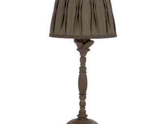 Interior's - lampe marron abat-jour gris clair obscur - Lampe À Poser