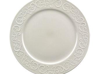 Interior's - assiette plate en porcelaine arabesque - Assiette Plate
