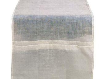 Interior's - chemin de table blanc en lin - Chemin De Table