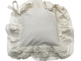 Interior's - galette de chaise blanche - Galette De Chaise