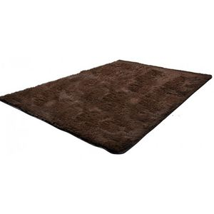 WHITE LABEL - tapis salon marron poil long taille xl - Tapis Contemporain