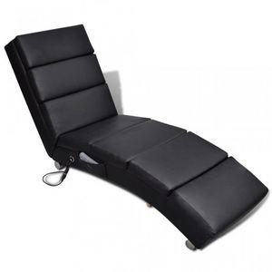 WHITE LABEL - fauteuil de massage chaise de relaxation électrique - Fauteuil De Massage