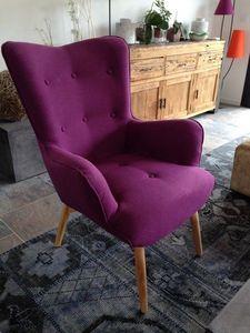 Mathi Design - fauteuil java prune - Fauteuil