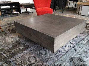Mathi Design - table beton cube - Table Basse Carrée