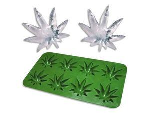 WHITE LABEL - moule 8 glaçons cannabis ou gateau chocolat moule - Bac À Glaçons