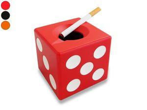 WHITE LABEL - cendrier dé à jouer orange accessoire fumeur mégot - Cendrier