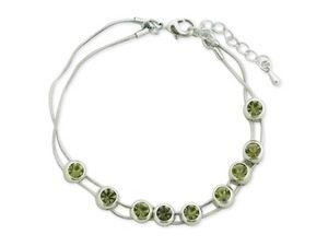 WHITE LABEL - bracelet aux faux cristaux verts mobiles bijou fa - Collier