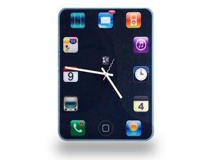 WHITE LABEL - horloge murale en menu d'iphone deco maison desig - Horloge Murale