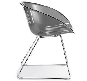 PEDRALI - chaise gliss pedrali transparent - Chaise