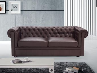 BELIANI - sofa chesterfield - Canapé Chesterfield