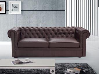 BELIANI - sofa chesterfield - Canapé Chesterfield