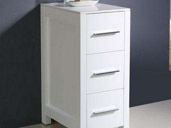 UsiRama.com - colonne de salle de bain blanche design 79cm - Meuble De Salle De Bains
