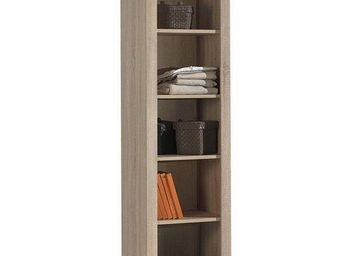 WHITE LABEL - biblioth�que aline design ch�ne - Colonne De Rangement