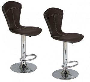 WHITE LABEL - lot de 2 tabourets de bar beautiful noir - Chaise Haute De Bar