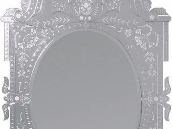 WHITE LABEL - miroir baroque versailles - Miroir
