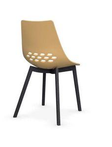 Calligaris - chaise jam w de calligaris jaune piétement graphit - Chaise