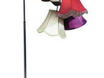 WHITE LABEL - lampadaire clochette - Lampadaire