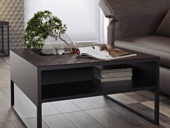 TemaHome - temahome table basse sigma c�ramique oxyd� marron - Table Basse Carr�e