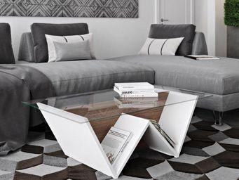 TemaHome - temahome table basse design walt 120*70 cm en verr - Table Basse Rectangulaire