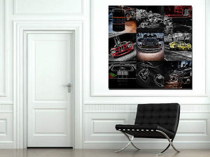 CARS AND ROSES -  - Tableau Contemporain