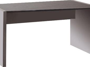 WHITE LABEL - bureau 140 cm en bois coloris gris et chêne anthra - Bureau