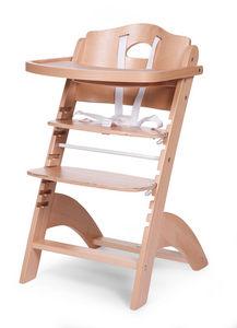 WHITE LABEL - chaise haute évolutive pour bébé coloris bois natu - Chaise Haute Enfant