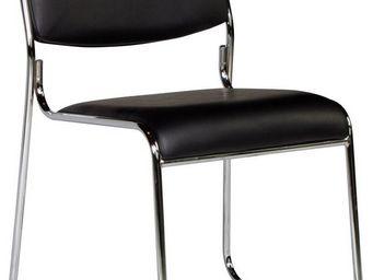 WHITE LABEL - chaise sans accoudoirs coloris noir moderne - Chaise De Bureau