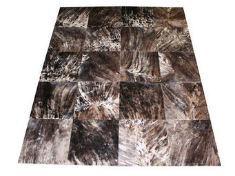 Tergus - tapis peau de vache méché ref.m2 - Tapis Contemporain