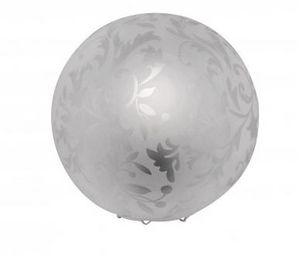 COMFORIUM - lampe à poser design boule déco floral blanc - Lampe À Poser